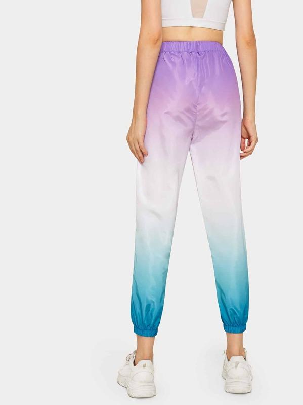 Ombre Elastic Waist Wind Pants
