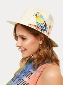 Bird Pattern Fedora