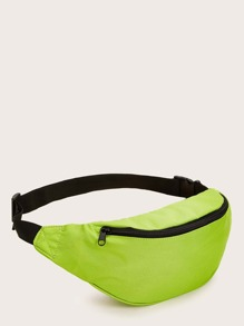 Front Zipper Neon Bag