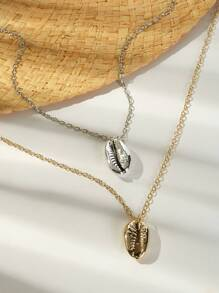 Seashell Pendant Chain Necklace 2pack