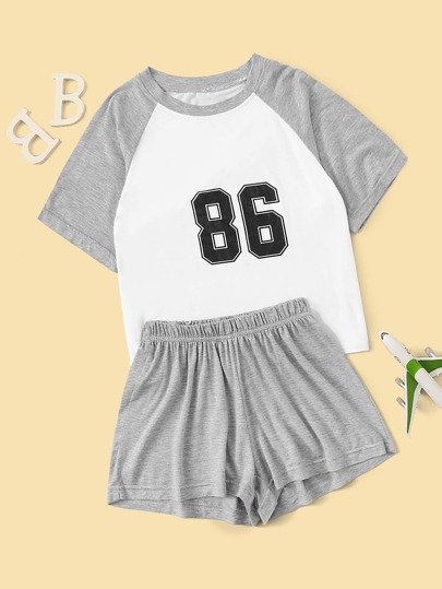 Boys Number Print Pajama Set