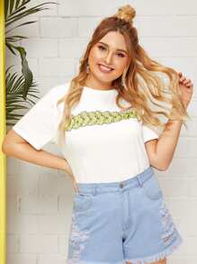 Plus Lemon Print Tee