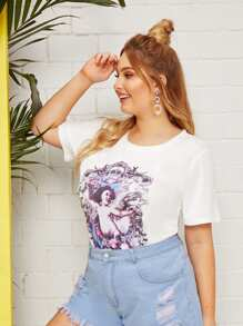 Plus Angel Print Tee