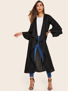 Waterfall Collar Layered Bell Sleeve Kimono