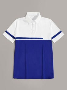 Men Cut And Sew Polo Shirt