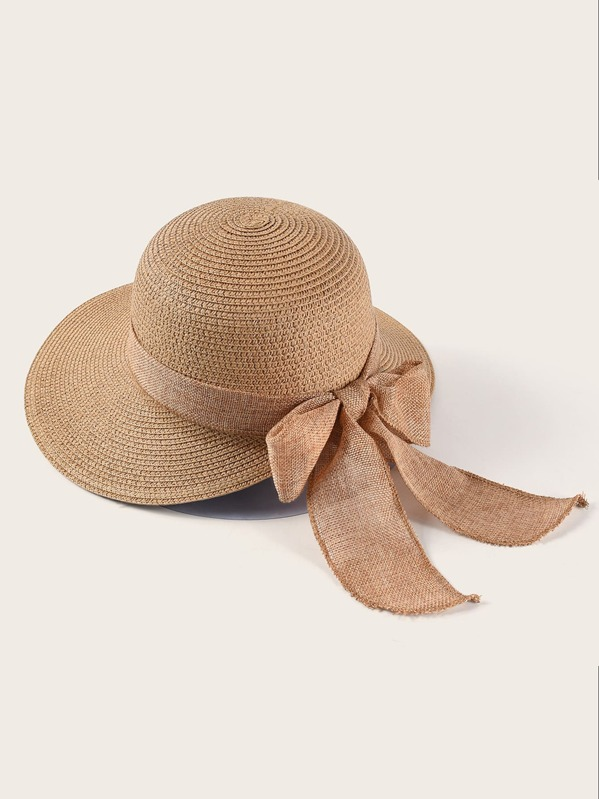 60a669ec09668 Exaggerated Bow Decor Floppy Hat