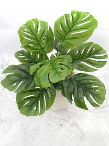 Artificial Turtle Leaf Bunch With 8pcs Branch