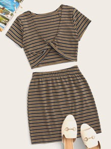 Striped Top With Skirt