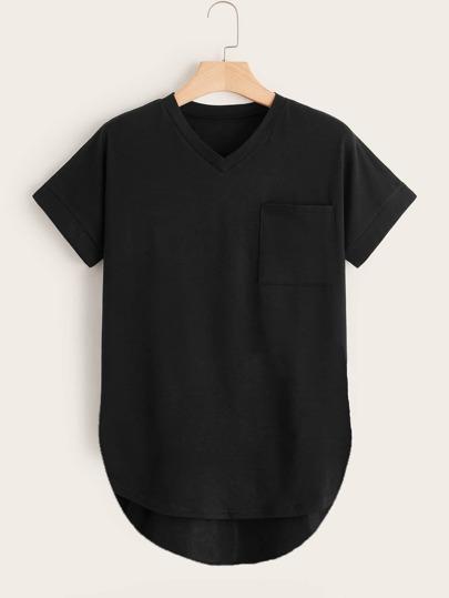 0641fc873fb88 T-shirt asymétrique avec poche