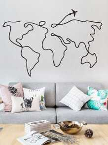 Map Print Wall Sticker