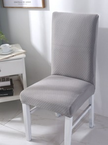 Solid Diamond Pattern Stretchy Chair Cover