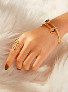Spiral Bangle & Ring Set 2pcs