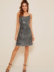 Double Strappy Sequin Dress
