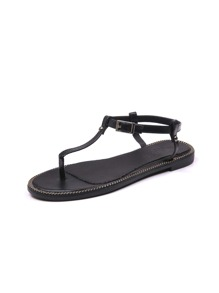Buckle Strap Toe Post Sandals