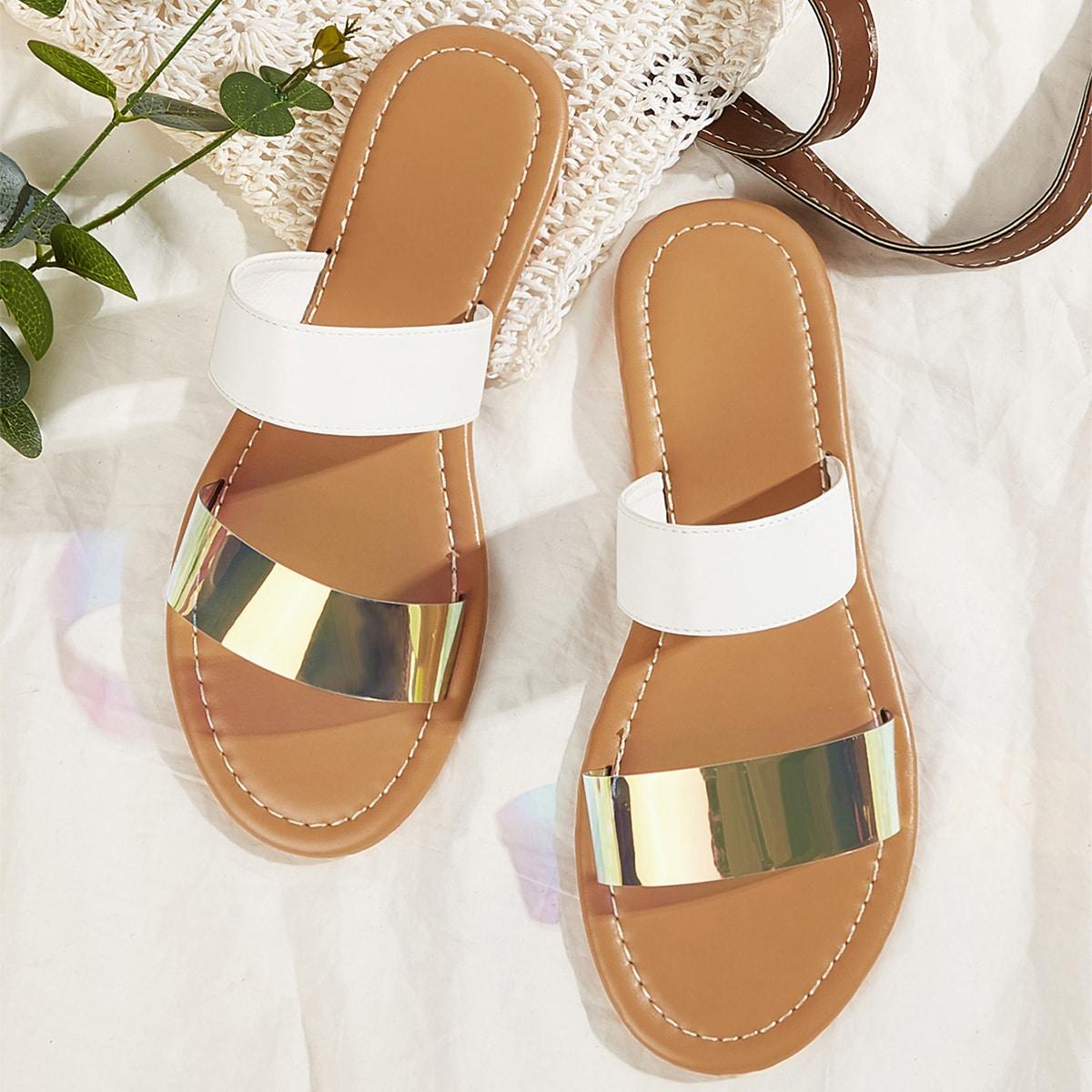 Плоские сандалии из двух частей от SHEIN