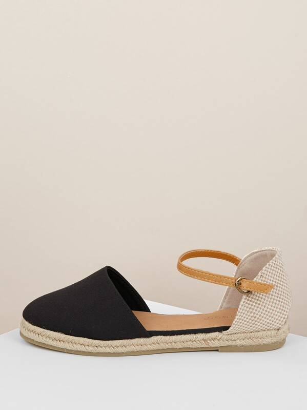 311b3997d Cheap Round Closed Toe Ankle Strap Espadrille Flats for sale Australia |  SHEIN