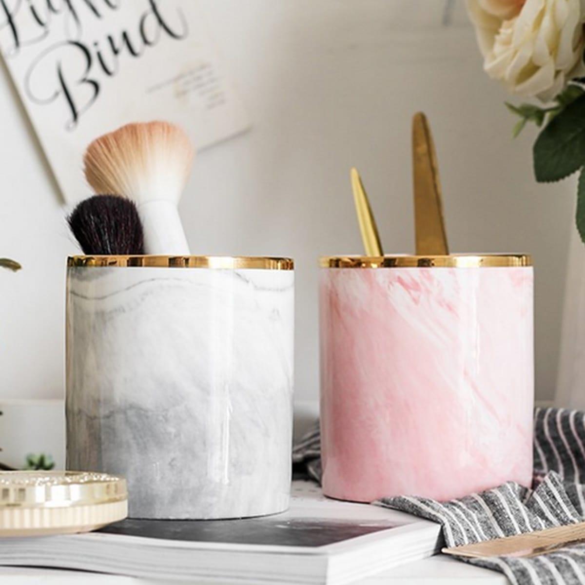 Marmor Muster Makeup Brush Aufbewahrungsbox 1pc