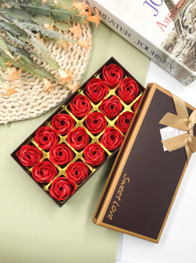 Gift Boxed Artificial Rose 18grids