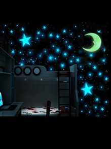 Star & Moon Luminous Wall Sticker 103pcs