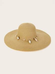 Shell Trim Floppy Hat