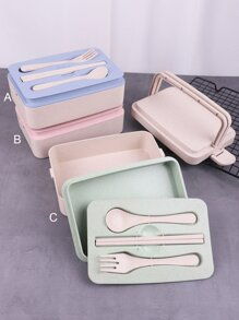 Double Layer Lunch Box 1pc