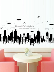 Building Print Wall Sticker