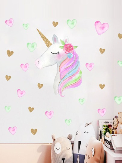 Unicorn Print Wall Sticker