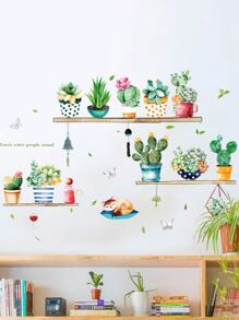 Potted Plant Print Wall Sticker