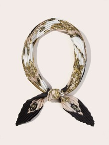 Baroque  Print Pleated Bandana