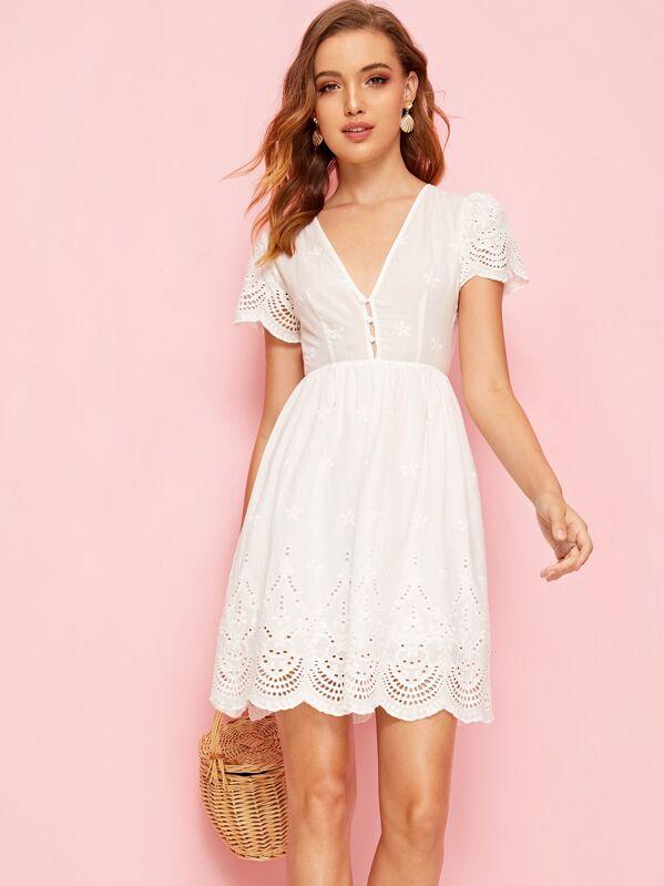 V Waist Dress