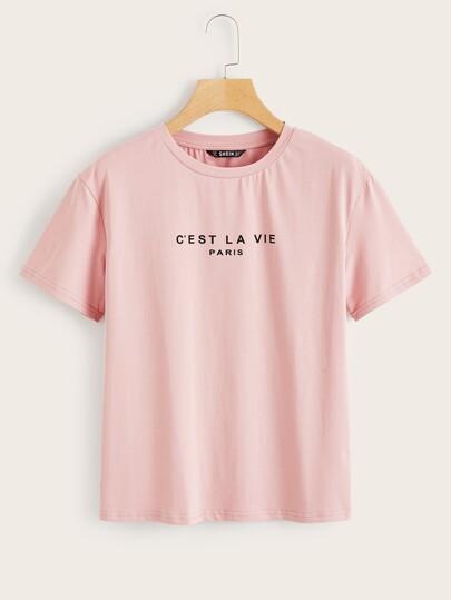 9fdfbf58 T-Shirts | T-Shirts Online | SHEIN