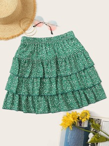 Tiered Layer Confetti Skirt