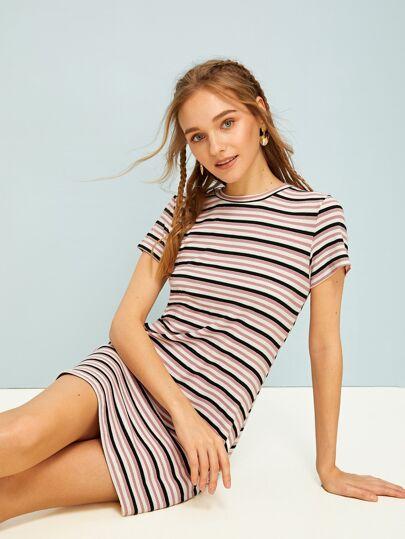 5522f8e132d Striped Skinny Dress