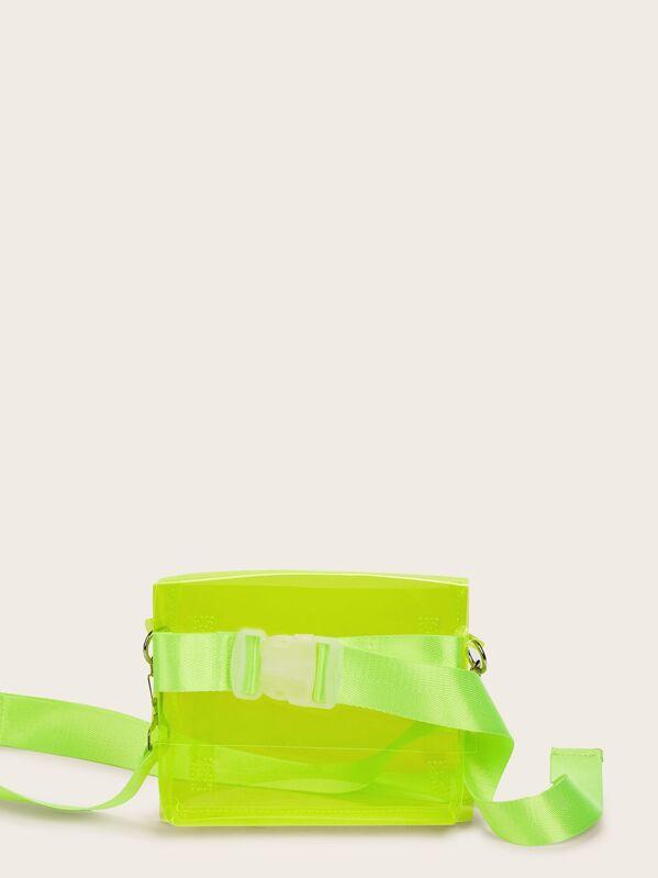 bb1e97b04e Neon Lime Clear Crossbody Bag