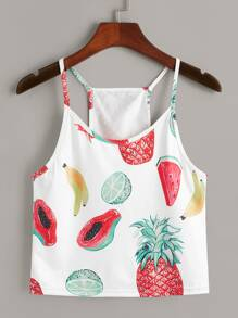 Fruits Print Cami Top
