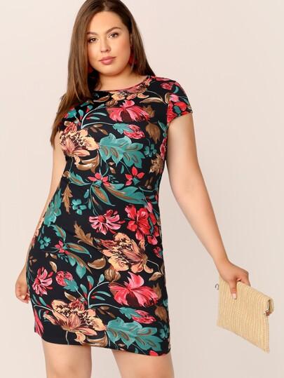 3954fd177ef2 Women's Plus Size & Curvy Dresses | SHEIN