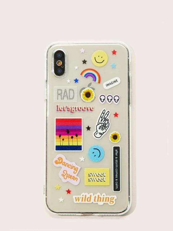 ef0b5cb2ad Mix Pattern iPhone Case | SHEIN