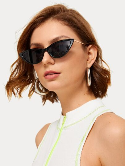 Two Tone Cat Eye Sunglasses