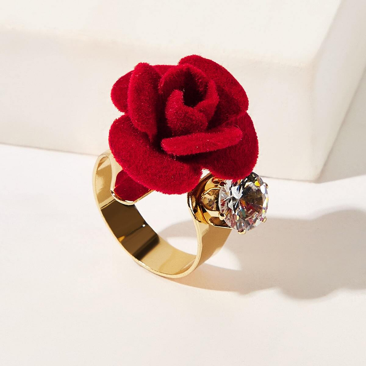 Flower Engraved Cut Ring 1pc, SHEIN  - buy with discount