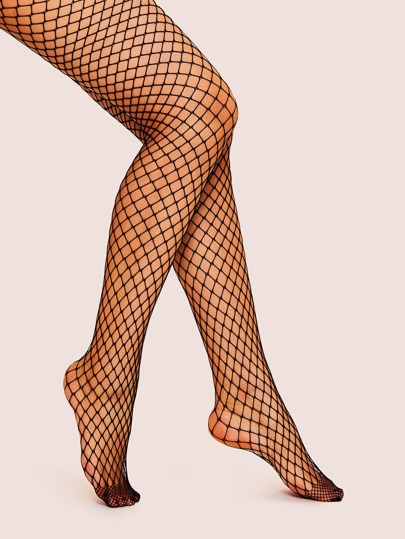 4d050b6a78e Plain Fishnet Tights