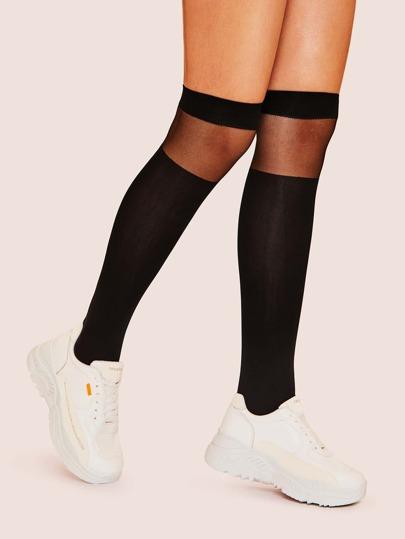 b19f6ce5c Mesh Knee Length Socks 1pair