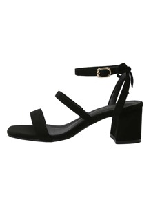 Ankle Strap Chunky Heeled Sandals
