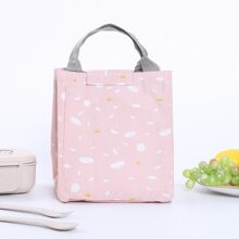 Graphic Print Insulated Lunch Box Storage Bag