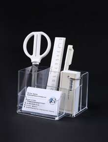 Multifunction Clear Pen Holder