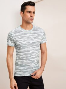 Men Abstract Print Tee