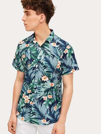 0b147ea7e78 Guys Tropical   Floral Print Shirt