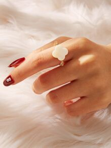 Clover Detail Chain Ring 1pc
