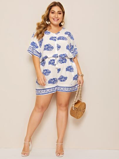 662e26a116f Women's Plus Size Jumpsuits & Rompers | SHEIN