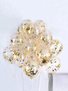 Star Detail Decorative Balloon 5pcs