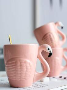 Flamingo Shaped Mug 1pc
